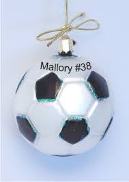 soccer ornament glass personalized ornaments by