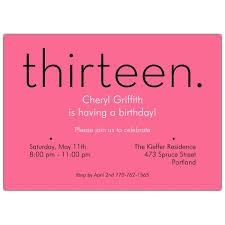 13th birthday invitation wording 13th birthday invitations badbrya