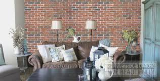 Faux Brick Interior Wall Covering Snippets Of Design Diy Brick Wall Really It Was So Easy