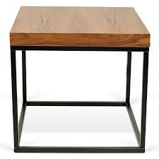 prairie walnut black modern end table eurway furniture