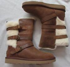 ugg womens tatum boots chestnut ugg australia leather buckle comfort shoes for ebay