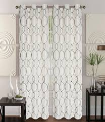 Curtain Panels Pair Of Owen Ivory Faux Silk Window Curtain Panels W Grommets