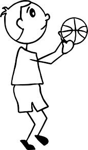 coloring page basketball playing basketball kid side view coloring page wecoloringpage