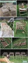 Vinyl Webbing For Patio Chairs Updating The Ole Patio Chairs Carriage Bolt Paint Furniture And