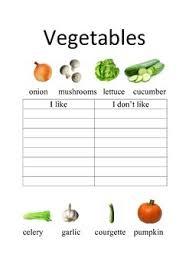 esl vegetables worksheets i like i don u0027t like by ealee tpt