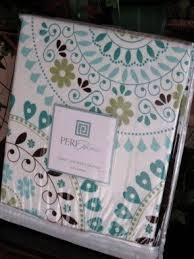 Teal And Brown Shower Curtain Blue Brown Shower Curtain Foter