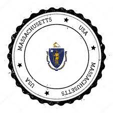 Flag Of Massachusetts Massachusetts Flag Badge U2014 Stock Vector Doozydo 125487604