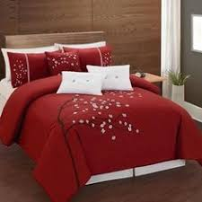 Red Gold Comforter Sets Rosemonde 7 Piece Red Gold Comforter Set Products And Comforter