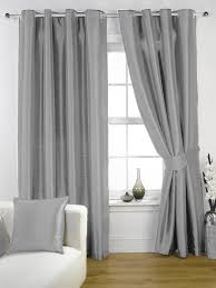 Curtains Ring Top Silver Grey Faux Silk Lined Curtains With Eyelet Ring Top 66 X 72