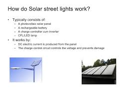 how do street lights work solar industryin india