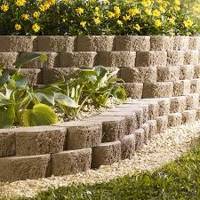 ideas retaining wall stone lowes cinder blocks concrete pier