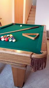 Dlt Pool Table by Sold Black Slate Leather Pockets 8 U0027 Sold Used Pool Tables