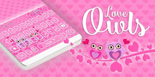 owl keyboard pink love theme android apps on google play