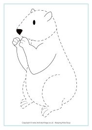 groundhog colouring pages