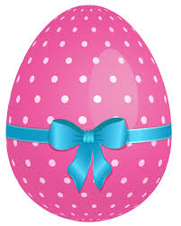 pink easter eggs pink dotted easter egg with blue bow png clipart gallery
