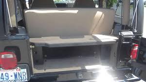 jeep tailgate storage 2000 jeep wrangler black stock 14115k trunk youtube