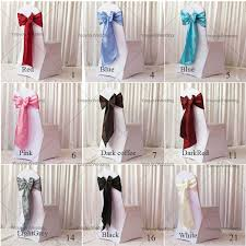 wedding chair sashes wholesale 20cm 275cm taffeta chair sash for wedding party hotel