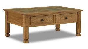 rustic oak coffee table sunny designs sedona 3143ro rustic oak coffee table with slate top