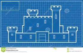 castle blueprint stock illustration image 41194965