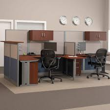 Computer Desk With Built In Computer by Bush Office In An Hour Melamine U Shaped Double Workstation