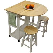 Pine Kitchen Tables And Chairs by White Pine Wood Breakfast Bar Folding Kitchen Table And Stool Set