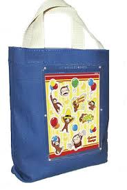 Birthday Favor Bags by Curious George Birthday Favor Bag Canvas Fabric Cloth Tote For