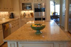 granite countertop grey cabinet kitchens backsplash subway tile