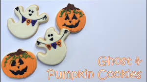 how to decorate ghost u0026 pumpkin cookies youtube