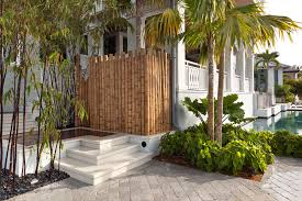 Ideas For Bamboo Floor L Design Inspired Bamboo Fencing In Pool Tropical With Bamboo Poles Next To
