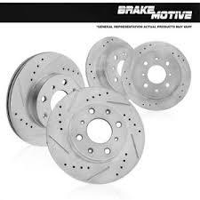 honda civic rotors front rear drilled slotted brake rotors kit honda civic