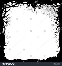 halloween spiders background vector illustration black silhouette forest branches stock vector