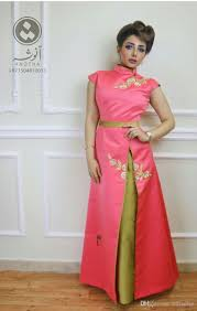 embroidery evening gowns arabic kaftan dresses chinese party dress