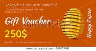holiday coupon holiday gift voucher easter coupon sales stock vector 566274511