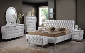 pontarlier white leather bed with crystals advice for your home