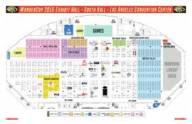 Exhibit Floor Plan Wondercon 2016 Exhibit Hall Floor Plan By Comic Con International