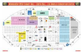 wondercon 2016 exhibit hall floor plan by comic con international