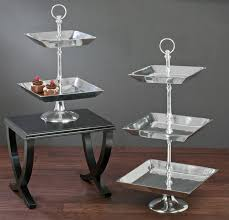 tiered serving stand large tiered aluminum tray stands tripar international inc