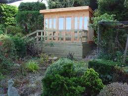 Summer House Garden - contemporary garden summer house in eastbourne sussex bakers
