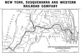 Map Of West New York Nj by The New York Susquehanna And Western Railway