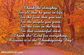 thank the almighty for all that he thanksgiving prayers