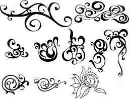 original black and white decorative ornaments royalty free