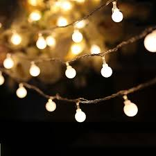 dimmable outdoor led string light white round 80 string bulbs battery decorative led lights