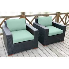 Deep Seating Patio Furniture Sets - talia outdoor deep seating club chair with ottoman set of 2