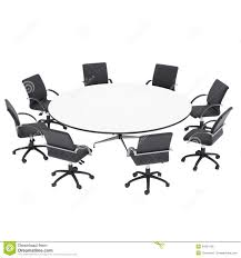 round office table and chairs office chairs and round table stock illustration illustration of