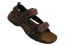 slatters broome ii mens comfort leather sandals with adjustable