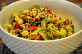 food therapy crunchy celery chickpea and quinoa salad