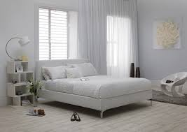 serene monza 4ft small double white faux leather bed frame by