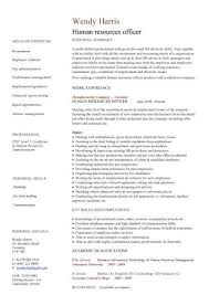 Resume Sample For Hr by Human Resources Officer Cv Sample