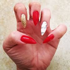 the 25 best red and gold nails ideas on pinterest red french