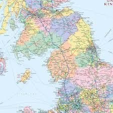 British Isles Map British Isles Political Medium 1 1 3m Wall Map Xyz Maps